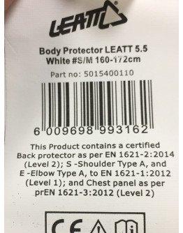 Chránič hrude Leatt 5,5 Pro white