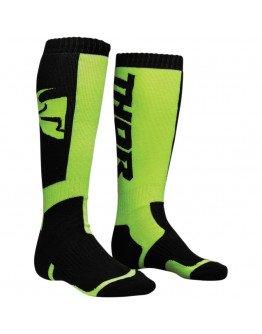 Ponožky Thor S8Y MX black/lime detské