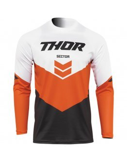 Dres Thor Sector Chev charcoal/red orange 2022 detský