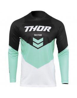 Dres Thor Sector Chev black/mint 2022 detský