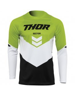 Dres Thor Sector Chev black/green 2022 detský