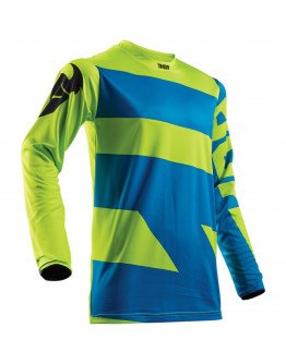 Dres Thor Pulse Level S8Y electric blue/lime detský
