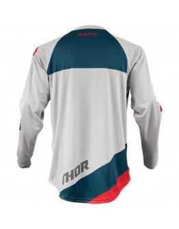 Dres Thor S9 Sector Shear light grey/red detský