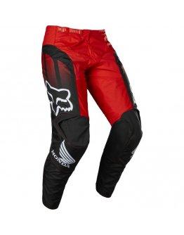 Nohavice FOX 180 HONDA black/red 2022