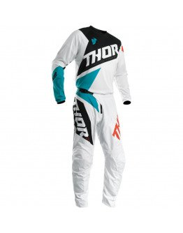 Nohavice Thor S20 Sector Blade white/aqua