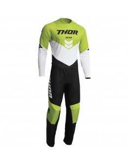 Nohavice Thor Sector Chev black/green 2022