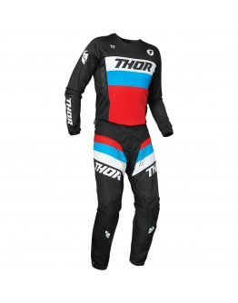 Nohavice Thor Pulse Racer black/red/blue