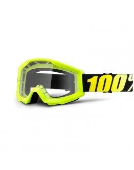 100% Strata Neon Yellow s čírym sklom