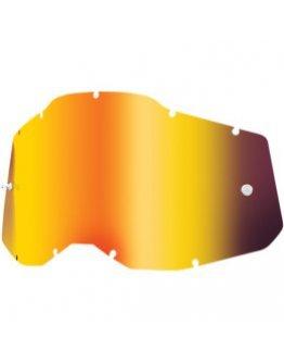 Zrkadlové sklo do okuliarov 100% Strata 2,Accuri 2, Racecraft 2 red