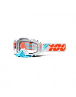 100% Racecraft Calc Ice s čírym sklom