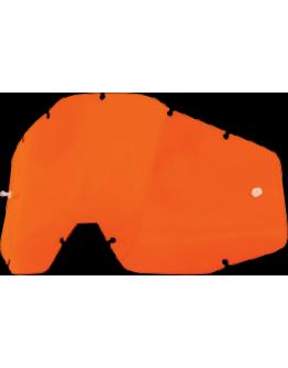 Dymové sklo do okuliarov 100% Accuri/Racecraft/Strata oranžové