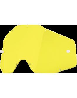 Dymové sklo do okuliarov 100% Accuri/Racecraft/Strata žlté