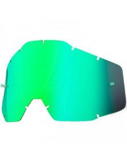 Zrkadlové sklo do okuliarov 100% zelené
