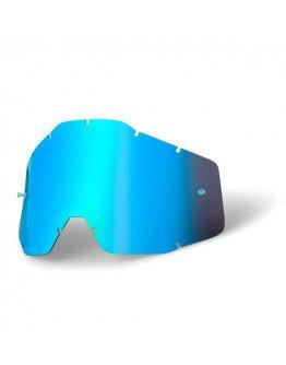 Zrkadlové sklo do okuliarov 100% modré