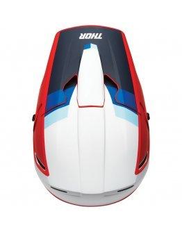 Prilba Thor REFLEX APEX RED/WHITE/BLUE+okuliare 100% racecraft ZDARMA