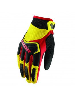 Rukavice Thor Spectrum S8Y yellow/black/red detské