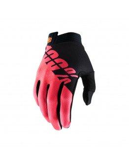 Rukavice 100% I-TRACK black/fluo red