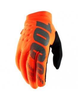 Rukavice 100% Brisker flo orange/black