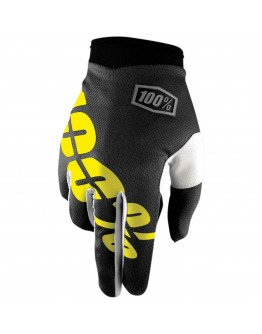 Rukavice 100% I-TRACK Solid black/yellow