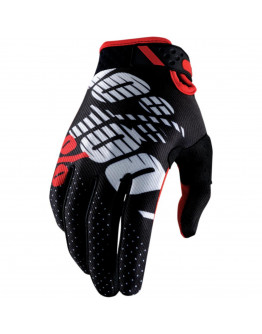 Rukavice 100% RIDEFIT black/red