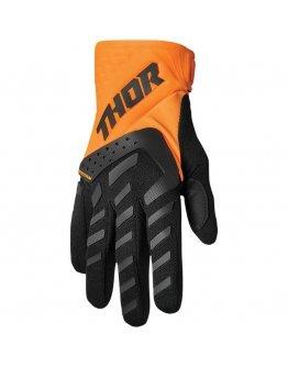 Rukavice Thor Spectrum flo orange/black 2022 detské