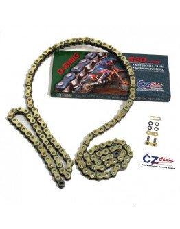 Reťaz ČZ 520 O-ring 118čl.zlatá