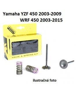 Ventily výfukové oceľové Yamaha YZF 450 2003-2009,WRF 450 2003-2015