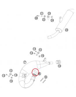 Tesniaci o-krúžok na výfukové koleno VITON 38x3mm