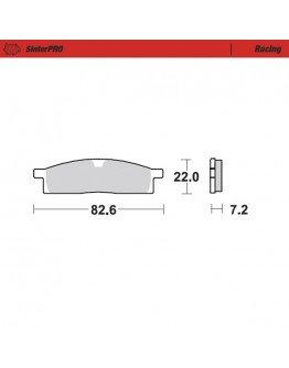 Brzdové platničky Moto-Master SinterPRO / YZ 80/85 predné