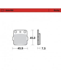 Brzdové platničky Moto-Master Nitro / KX 65/80/85 zadné