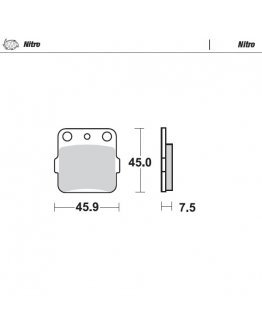 Brzdové platničky Moto-Master Nitro KX 65/80/85,YZ 65 zadné