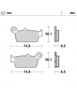 Brzdové platničky Moto-Master Nitro/ CR,KX,RM,YZ,GAS GAS zadné