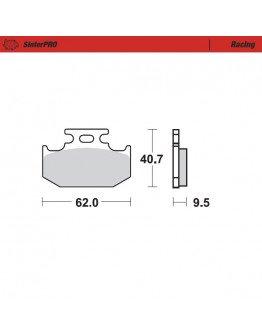 Brzdové platničky Moto-Master SinterPRO / RM,YZ zadné