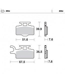 Brzdové platničky Moto-Master Nitro KX 65 /RM 65 predné