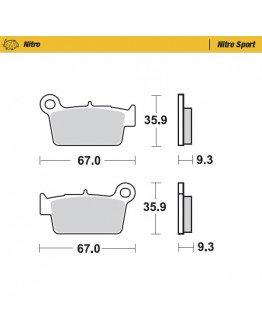 Brzdové platničky Moto-Master Nitro Sport  BETA,GAS GAS,Kawasaki,Suzuki,Yamaha,TM zadné