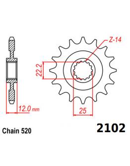 Vývodové sekundárne koliečko GAS-GAS 2102