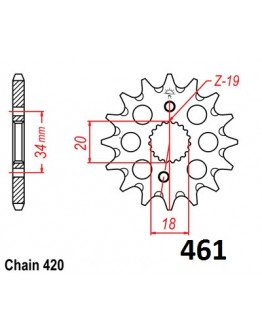 Vývodové sekundárne koliečko CRF 150 e461