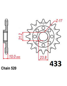 Vývodové sekundárne koliečko RMZ 450 e433