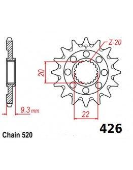 Vývodové sekundárne koliečko KXF 250  e426