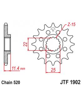 Vývodové sekundárne koliečko JT KTM LC4,Enduro,SM-SMC