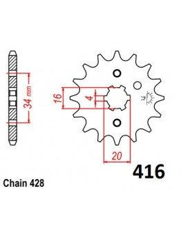 Vývodové sekundárne koliečko RM80/85 YZ 80  e416