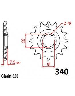 Vývodové sekundárne koliečko CR 125 87-03 e340