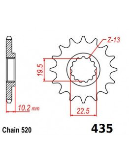 Vývodové sekundárne koliečko RM 250/DR400 435