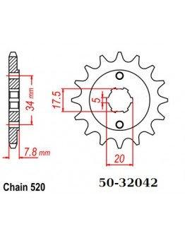 Vývodové sekundárne koliečko ESJOT CRF150F,XR250