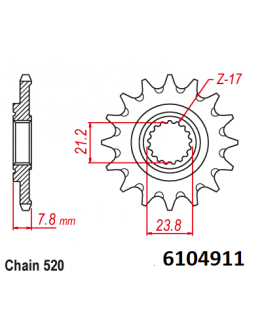 Vývodové sekundárne koliečko MM CRF 250 18-