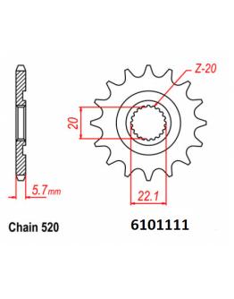 Vývodové sekundárne koliečko MM YZ125/YZF250/WRF250