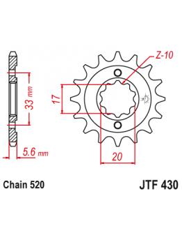 Vývodové sekundárne koliečko KXF/RMZ 250 04-05 JTF430
