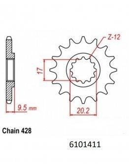 Vývodové sekundárne koliečko MM KTM SX85 04-17,Husqvarna TC85 14-17