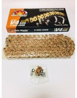 Reťaz Moto-master V4 O-ring gold 520