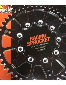 Rozeta TM racing Moto-Master dural 70/75 čierna